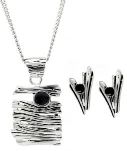 Contemporary Unique Raisin Clip on Earrings & Necklace Set -  Party Jewellery, Great Gift Idea